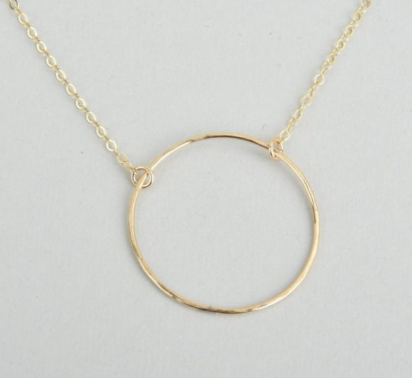 Large Infinity Circle Necklace