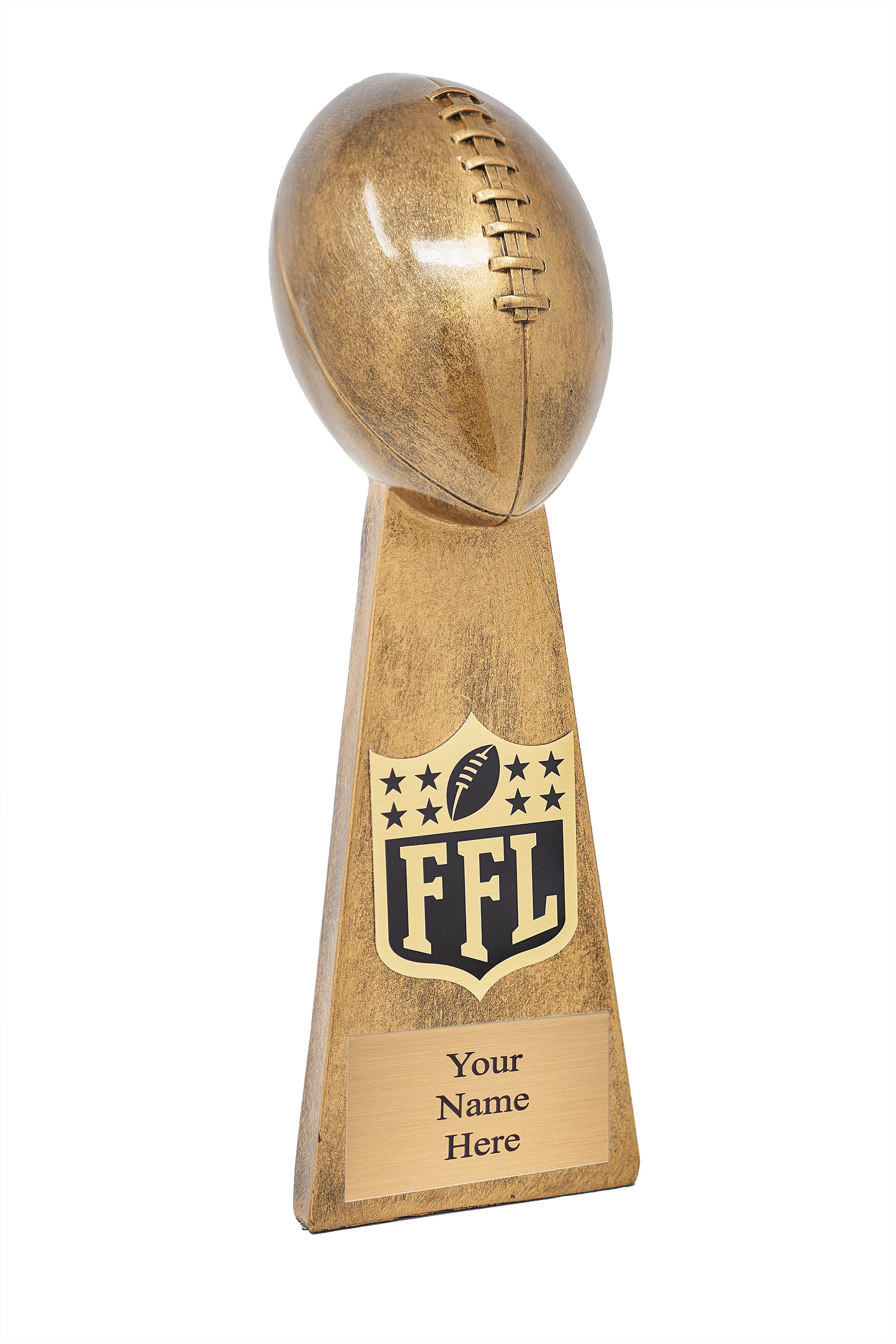 Personalized Gold Fantasy Football Champion Lombardi Trophy (Engraving) - Fantasybros.us