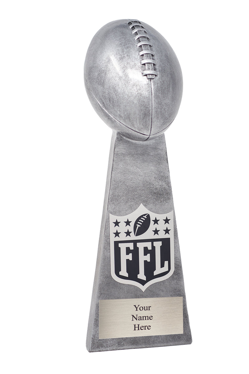Personalized Silver Fantasy Football Champion Lombardi Trophy (Free Engraving)