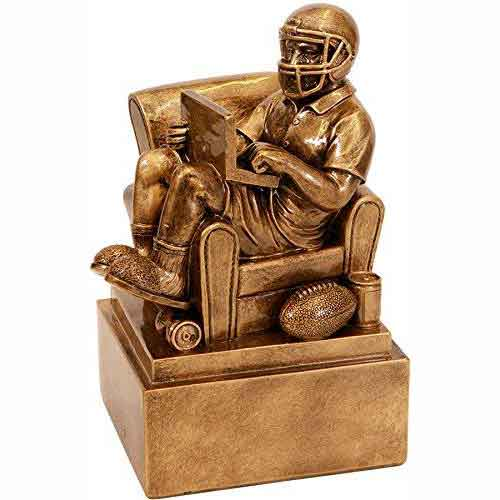 "6"" Antique Gold Fantasy Football Armchair Trophy"
