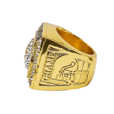 Gold Fantasy Football Championship Ring - Fantasybros.us