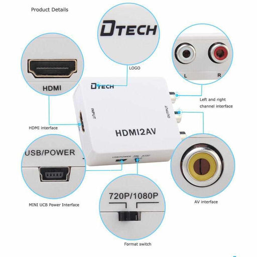 DTECH AT030 : HDMI TO AV High Definition Converter-Data Switch-กล้องวงจรปิด-Watashi CCTV