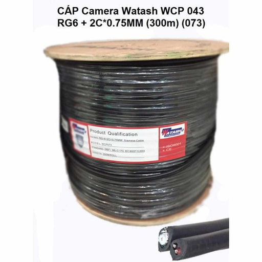 CABLE RG6/2Cx0.7 MM. 300 M. WATASHI #WCP073 Cable Watashi