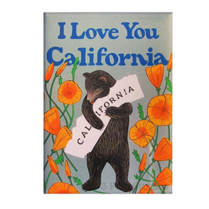 By 3 Fish Studios. Beautiful, super strong Poppy Bear Magnet, made in the USA. Ready for your fridge or file cabinet! Measures 2.5 x 3.5 inches. Also available in store at FOLD Gallery DTLA.