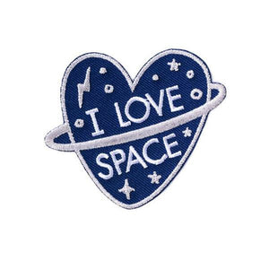 By Badge Bomb. The I Love Space Patch is Illustrated by Allison Cole. Measures 4x5 inches. Also available in store at FOLD Gallery DTLA.