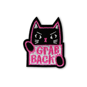 By Badge Bomb. It's time to grab back! Iron-on Grab Back Patch. Illustration by artist Allison Cole. Comes packaged in individual hang bag. Measures 2.25 x 2.75 inches.