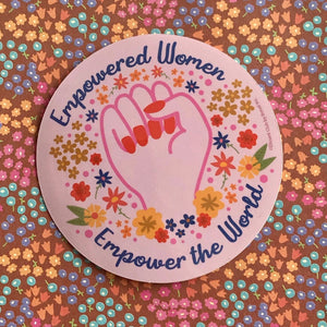 Empowered Women Vinyl Sticker