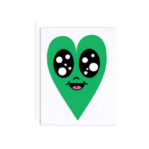 By Chris Uphues. Happy Green Heart Card: High-quality digital offset printing on 100lb matte cover paper with AQ coating. Blank interior White A2 envelope included Measures 4.25 x 5.5 inches.