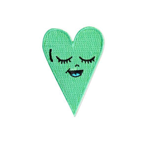 By Chris Uphues. High quality, 100% embroidered, iron-on Seafoam Green Heart Patch. Measures approximately 2.5 x 1.5 inches. Also available in store at FOLD Gallery DTLA.