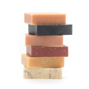 By Craftsman Soap Co. Beer Soap 6-Pack Sampler includes: Eucalyptus Brown, Angeles Forest IPA, Golden State Hefe, Hops & Barley Scrub, Coastal Sage Lager, Citrus & Spruce Saison. Measures approximately 4 x 2.5 x 2 inches. FOLD Gallery Dtla.