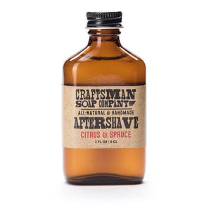 By Craftsman Soap Co. This traditional alcohol-based Citrus & Spruce Aftershave acts as an antiseptic to sanitize any razor irritation from a shave. Alcohol and witch hazel work together as antiseptic and astringent agents to clean and refresh the face, while aloe and glycerin moisturize and soothe the skin.