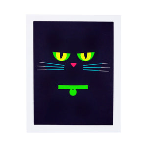 Shade Cat Silkscreen Print