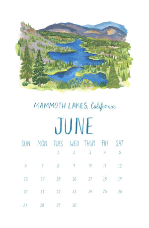 Scenes of the West Coast Calendar