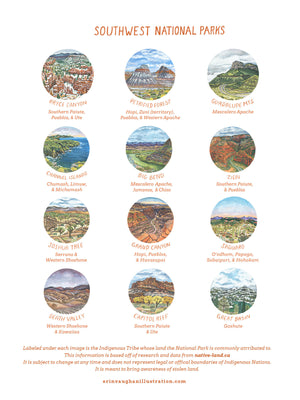 National Parks of the Southwest 2021 Calendar