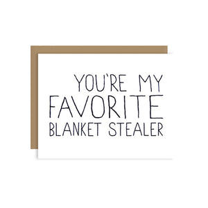 Favorite Blanket Stealer Card