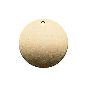 By Hari and Jin. The Minimalist Disc Gold Filled Necklace is a dainty 14k gold filled necklace. Looks great on its own or as a layered piece. Necklace measures 20 inches. Also available in store at FOLD Gallery DTLA.