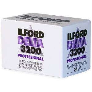Ilford Delta 3200 Professional Black & White 35mm Film details:  Measures 2.5 x 1.5 x 1.5 inches  Please note that due to everyone's monitor displaying differently, the colors you see may vary.
