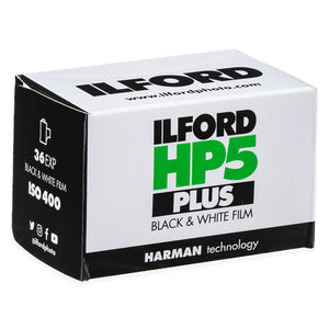 Ilford HP5 Plus 400 35mm Black & White Film details:  Measures 2.5 x 1.5 x 1.5 inches  Please note that due to everyone's monitor displaying differently, the colors you see may vary.