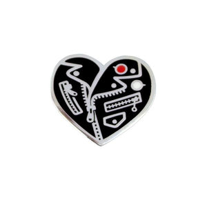 by Little Friends of Printmaking. Tough Love Pin. Pin comes with one rubber clutch. Measures 1.25 x 1.25 inches. Also available in store at FOLD Gallery DTLA.