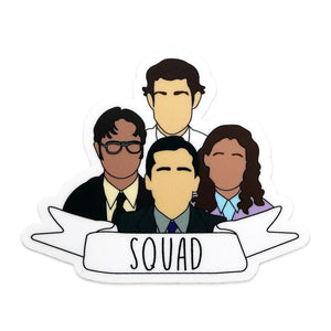 By Loudmouth Pin Co. This listing is for 1 Squad Sticker. Please note that due to everyone's monitor displaying differently, the colors you see may vary.Measures approximately 3 x 2.5 inches.