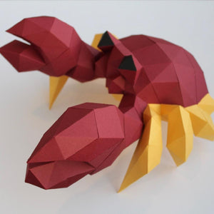 by Low Poly Craft. Crab Kit details: Unlike many (if not all) products out there, this is an actual kit that includes pre-cut, pre-scored and pre-numbered for assembly pieces.