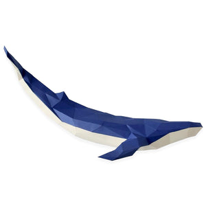 by Low Poly Craft. Dark Blue Whale Kit details: Unlike many (if not all) products out there, this is an actual kit that includes pre-cut, pre-scored and pre-numbered for assembly pieces.