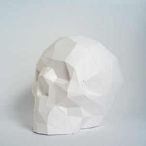 by Low Poly Craft. Skull Kit details: Unlike many (if not all) products out there, this is an actual kit that includes pre-cut, pre-scored and pre-numbered for assembly pieces. Full Assembled Sizing: Height: 18 cm/Width: 14 cm/Depth: 21 cm. Assembly Difficulty Level: 2/5 - Easy/Medium.