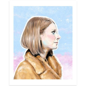 By Lucky Jackson. Margot Tenenbaum Print: Illustration is printed on heavy 100lb white card stock with white border. Signed on the back by artist. Colors may slightly vary due the variable color settings on monitors, laptops, tablets and smart phones. Print comes in polypropylene sleeve. Measures 8.5 x 11 inches. Also available in store at FOLD Gallery DTLA.