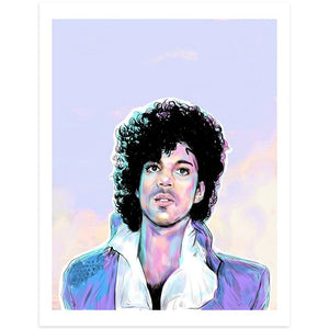 By Lucky Jackson. Prince Print: Illustration is printed on heavy 100lb white card stock with white border Signed on the back by artist.. Colors may slightly vary due the variable color settings on monitors, laptops, tablets and smart phones. Print comes in polypropylene sleeve. Measures 8.5 x 11 inches.