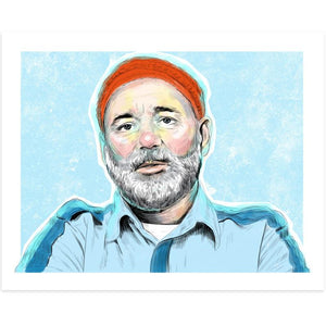 By Lucky Jackson. Steve Zissou Blue Shirt Print: Illustration is printed on heavy 100lb white card stock with white border. Signed on the back by artist. Colors may slightly vary due the variable color settings on monitors, laptops, tablets and smart phones. Print comes in polypropylene sleeve. Measures 8.5 x 11 inches.