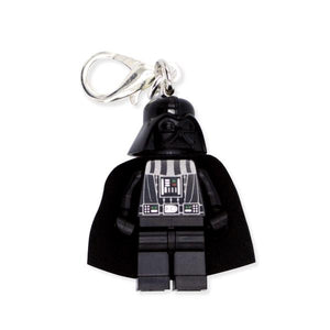 By Miss Brixx. Lego® Minifigure Star Wars Darth Vader Keychain. Silver color Lobster Clasp connectors. Lego figure measures approximately 2cm x 4cm. Also available in store at FOLD Gallery in DTLA.