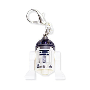By Miss BrixxLego® Minifigure Star Wars R2-D2 Keychain. Silver color Lobster Clasp connectors. Please note that due to everyone's monitor displaying differently, the colors you see may vary. Lego figure measures approximately 3cm x 3cm.