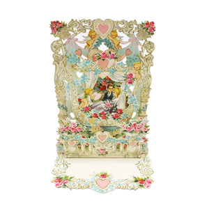 Pop-Up Vintage Victorian Valentine's Day Card - For Wife