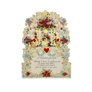 Pop-Up Vintage Victorian Valentine's Day Card - For You