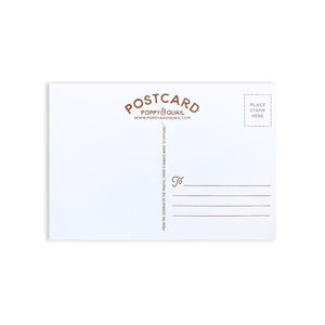 By Poppy & Quail. Golden State Postcard with matte-finish. Measures 4 x 6 inches.