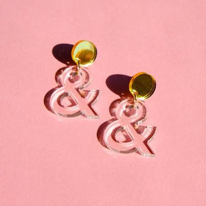 Sleepy Mountain Ampersand Earrings FOLD Gallery