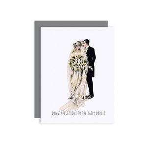 By Sylvan Gate Design. Wedding Mr. and Mrs. Glitter Card. This natural white 100% PCW paper card has subtle glitter accents and is made entirely by hand in California. Card is blank inside and comes in a signature grey, square flap envelope. Measures 4.25 x 5.5 inches. FOLD Gallery Dtla