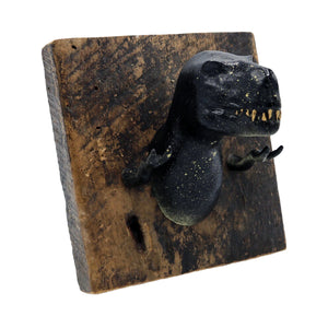 Black and Gold T-Rex Wall Hook