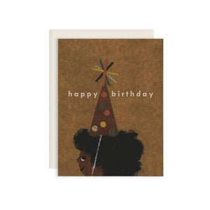 The Afro Birthday Card by Red Cap Cards at FOLD Gallery