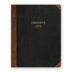 By The Mincing Mockingbird & The Frantic Meerkat. Obsessive Lists Journal. 128 lined pages of 120 gsm creamy off-white paper that takes ink beautifully. Binding lies flat when open. Measures 7.75 inch tall x 9.75 inch wide. Also available in store at FOLD Gallery DTLA.