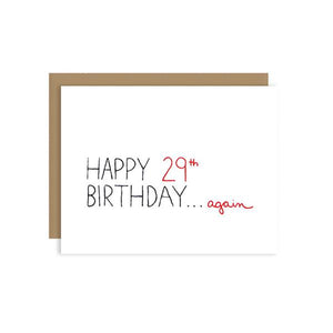 29th Birthday Again Card