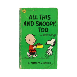 Various Vintage Peanuts Paperback Comic Collections  Listing is for one book.  Miscellaneous collections of Peanuts comic stories. Various titles.  Measures 7 x 4.25 inches  Condition varies from pristine to slightly battered covers.