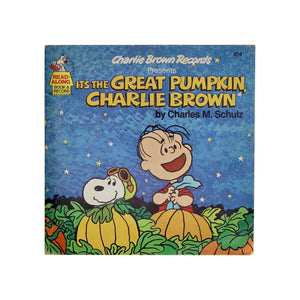 "Vintage 1978 ""It's the Great Pumpkin Charlie Brown Book & Record""  It's the Great Pumpkin, Charlie Brown read-along book and record, featuring full-color illustrations, the voices of your favorite Peanuts characters, and fun-filled sound effects!  Measures: 7.25 x 7.25 inches  Condition: Great condition, almost no shelf wear"