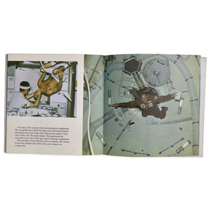 The Astronauts by Dinah L. Moche is a children's book publish in 1978 by Randomhouse. This book describes various craft in space, such as a spaceship and space station, and discusses activities of astronauts as they prepare for and travel in space. All photos and artists conceptions contained in the book were provided by NASA. Measures 8 x 8 inches.