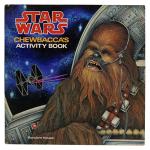 Vintage 1979 Chewbacca's Activity Book  This 32 page activity book contains various puzzles and instructions for card games and the construction of a paper x-wing fighter!  Measures 8 x 8 inches.