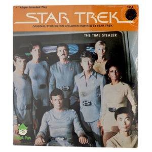 "Vintage 1979 Star Trek Records ""The Time Stealer #1514""  Sealed in original packaging.  7"" record, 45rpm extended play, original stories for children inspired by Star Trek.  Measures 8 x 7 inches."