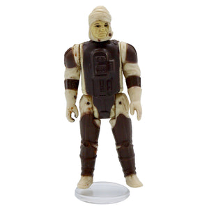Vintage 1980 Dengar Figurine It has moveable legs and arms! Measures 3.5 x 1.5 x 1.25 inches. Condition: Decent condition, moderate staining and discoloration throughout.