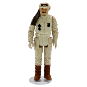 Vintage 1980 Hoth Rebel Commander Figurine  Vintage Hoth rebel commander figurine, missing rifle. It has movable legs and arms!  Measures 3.75 x 1.75 x 1 inches.  Condition: Great condition, some worn paint on headband and some minor discoloration on arms and legs.