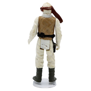 Vintage 1980 Luke Skywalker Hoth Figurine  Vintage Luke Skywalker figurine, missing gun. It has moveable legs and arms!  Measures 3.75 x 1.75 x .75 inches.  Condition: Good condition, some worn paint and stains on legs.