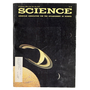 "Science Magazine Vol. 215, No. 4532. Published January 29, 1982. Includes articles titled ""Biological Control of Chestnut Blight"", ""Harvard Delays in Reporting Fraud"", ""A Tale with Many Connections: Was the Arkansas creationism law the result of a conservative ""conspiracy""? Or did it jus happen? More of the second, it seems"", and many more!  Measures 11 x 8.25 inches"